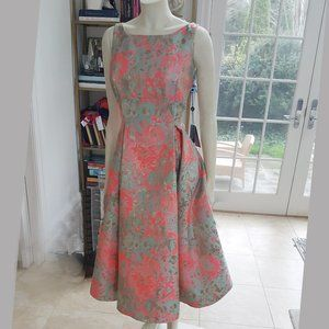 Adrianna Papell metal jacquard party dress,Size 12